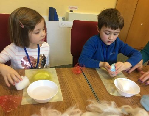 Making soap with felt